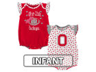 Ohio State Buckeyes Outerstuff NCAA Infant Girls Heart Fan Creeper Set Infant Apparel