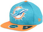 Miami Dolphins New Era NFL Heather Huge 9FIFTY Snapback Cap Adjustable Hats