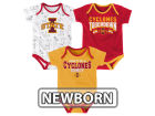 Iowa State Cyclones Outerstuff NCAA Newborn Playermaker 3 Piece Creeper Set Infant Apparel