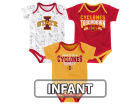 Iowa State Cyclones Outerstuff NCAA Infant Playermaker 3 Piece Creeper Set Infant Apparel