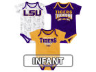 LSU Tigers Outerstuff NCAA Infant Playermaker 3 Piece Creeper Set Infant Apparel