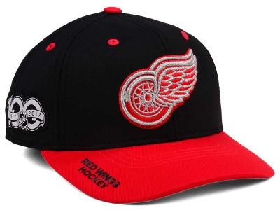 on sale 06d1e 326da ... cheapest detroit red wings adidas nhl 100th celebration structured flex  cap lids 5b498 87ee3
