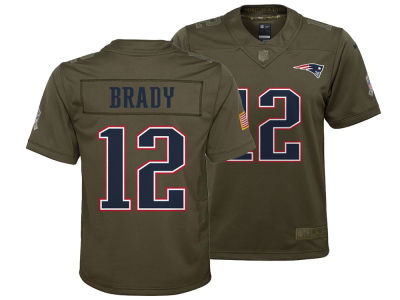 e4d65db7f79 New England Patriots Tom Brady Nike NFL Youth Salute to Service Jersey