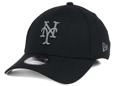 New York Mets MLB Black and Charcoal Classic 39THIRTY Cap Hats
