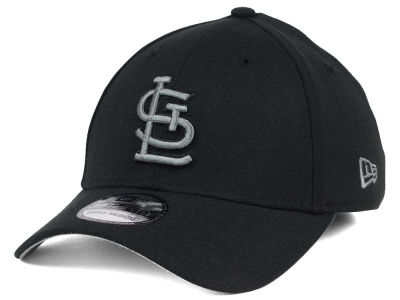 St. Louis Cardinals MLB Black and Charcoal Classic 39THIRTY Cap Hats