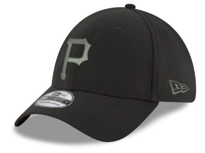 Pittsburgh Pirates MLB Black and Charcoal Classic 39THIRTY Cap Hats