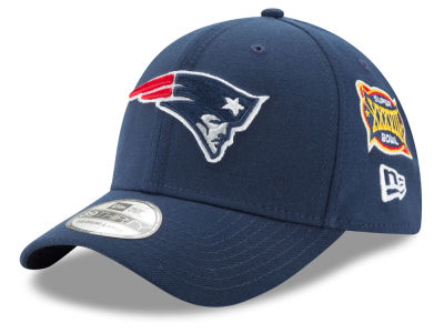 New England Patriots NFL 5X Super Bowl Champ Patch 39THIRTY Cap Hats