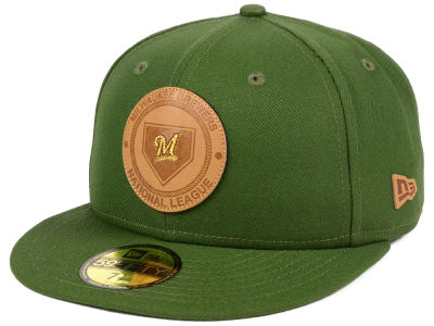 Milwaukee Brewers MLB Vintage Olive 59FIFTY Cap Hats