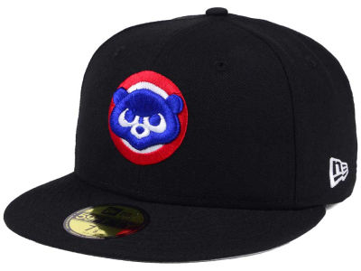 Chicago Cubs MLB Black Cooperstown 59FIFTY Cap Hats