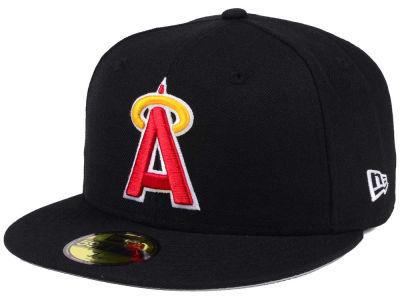 Los Angeles Angels MLB Black Cooperstown 59FIFTY Cap Hats