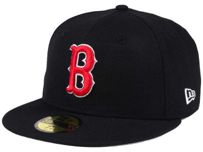 Boston Red Sox MLB Black Cooperstown 59FIFTY Cap Hats