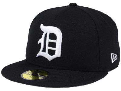 Detroit Tigers MLB Black Cooperstown 59FIFTY Cap Hats