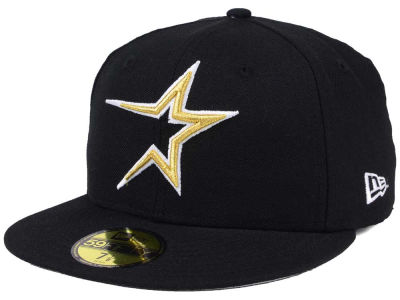 Houston Astros MLB Black Cooperstown 59FIFTY Cap Hats