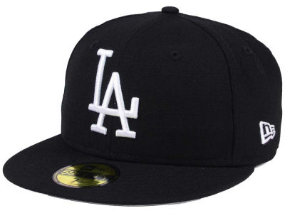 Los Angeles Dodgers MLB Black Cooperstown 59FIFTY Cap Hats