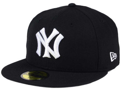 New York Yankees MLB Black Cooperstown 59FIFTY Cap Hats