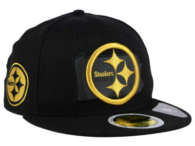 Pittsburgh Steelers New Era NFL State Flective Metallic 59FIFTY Cap ... 0ae4ec874
