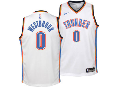 9ad55b6e7a5 Oklahoma City Thunder Russell Westbrook Nike NBA Youth Association Swingman  Jersey