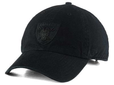 Oakland Raiders  47 NFL Black CLEAN UP Cap  a0fdd29ea89