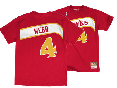Atlanta Hawks Spud Webb Mitchell   Ness NBA Men s Hardwood Classic Player  T-Shirt  1ede53dfe