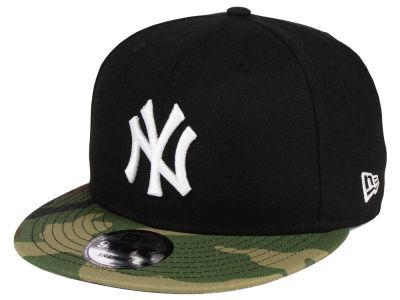 New York Yankees New Era MLB Woodland Black White 9FIFTY Snapback Cap  4e95dc617