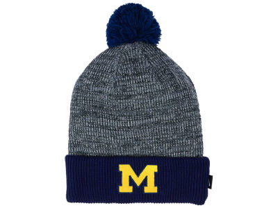 fb4d08ed ... hat for men lyst d660f 2a33a; real michigan wolverines nike ncaa heather  pom knit lids 9c4b0 7dc7f