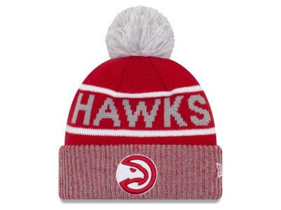 newest 86283 92488 Atlanta Hawks New Era NBA Court Force Pom Knit   lids.com
