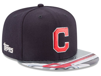 Cleveland Indians MLB X Topps Chrome 9FIFTY Snapback Cap Hats