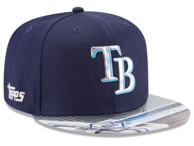 Tampa Bay Rays MLB X Topps Chrome 9FIFTY Snapback Cap Hats