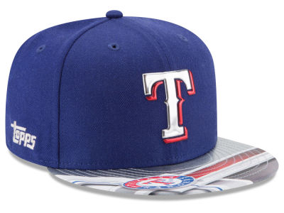 Texas Rangers MLB X Topps Chrome 9FIFTY Snapback Cap Hats