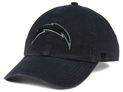 Los Angeles Chargers  47 NFL Dark Charcoal CLEAN UP Cap  92b6ca98cf7