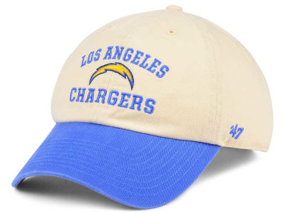 promo code d247f 261d7 Los Angeles Chargers  47 NFL Steady Two-Tone CLEAN UP Cap   lids.com
