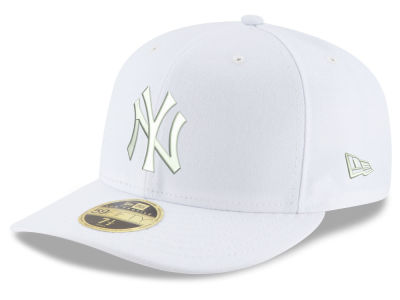 New York Yankees MLB Triple White Low Crown 59FIFTY Cap Hats