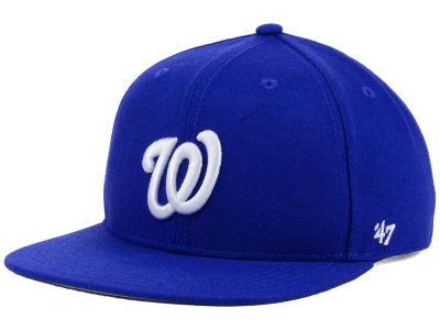 Washington Nationals  47 MLB Youth  47 Basic Shot Snapback Cap ... 87a643978fe