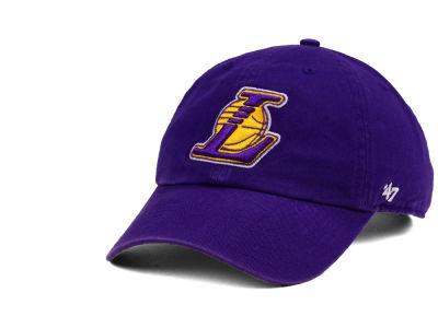Los Angeles Lakers  47 NBA  47 CLEAN UP Cap  14f6fe8b2ee