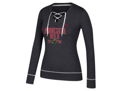 Minnesota Wild adidas NHL Women s Skate Lace Long Sleeve T-Shirt ... 8483bbf16a
