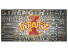 Iowa State Cyclones 6x12 Heritage Wood College Sign Bed & Bath