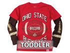 Ohio State Buckeyes NCAA Toddler Layered Long Sleeve T-Shirt T-Shirts