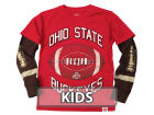 Ohio State Buckeyes NCAA Kids Layered Long Sleeve T-Shirt T-Shirts