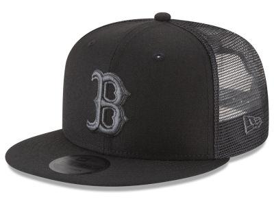 Boston Red Sox New Era MLB Blackout Mesh 9FIFTY Snapback Cap  ae365b3535d