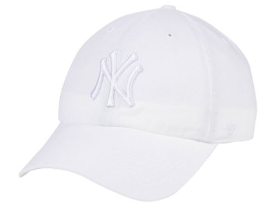 New York Yankees  47 MLB White White  47 CLEAN UP Cap  955f3f8e2e4