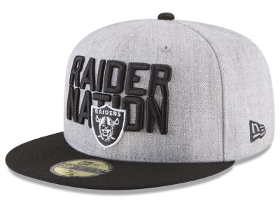Oakland Raiders New Era 2018 NFL Kids Draft 59FIFTY Cap  6e3ad8d0ccd