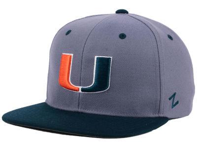 big sale 14683 9d033 Miami Hurricanes Zephyr NCAA Z11 Snapback Hat   lids.com