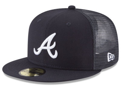 Atlanta Braves New Era MLB On-Field Mesh Back 59FIFTY Cap  b36154ac84c4