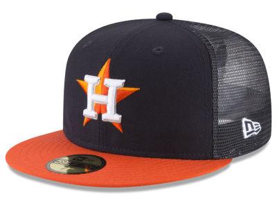 Houston Astros New Era MLB On-Field Mesh Back 59FIFTY Cap  e62d66561df