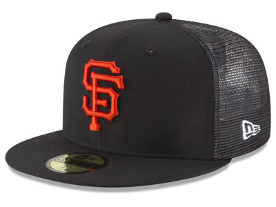 San Francisco Giants New Era MLB On-Field Mesh Back 59FIFTY Cap ... d2e3f6a50dd