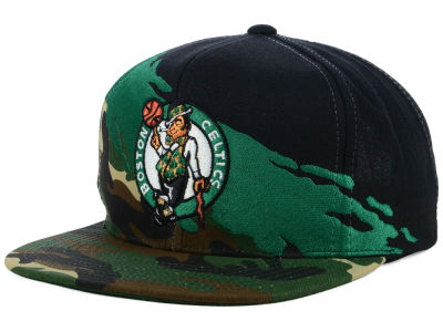 6268f966e3b Boston Celtics Mitchell   Ness NBA Paint Brush Snapback Cap