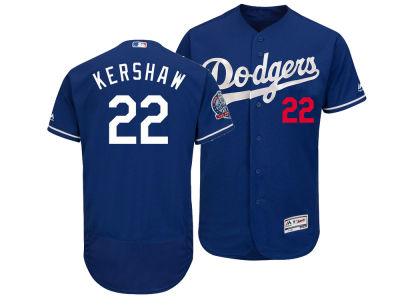 Los Angeles Dodgers Clayton Kershaw Majestic MLB Men s Flexbase 60th  Anniversary Patch Jersey  5221a9931a8