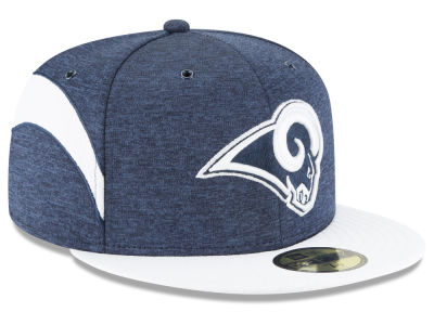 Los Angeles Rams New Era 2018 Official NFL Sideline Home 59FIFTY Cap ... c99281b46