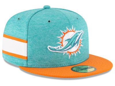 9b741e766eb shopping miami dolphins new era 2018 official nfl sideline home 59fifty cap  lids e3bef cf1b3