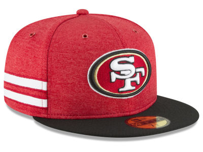 b8b874f64ab San Francisco 49ers New Era 2018 Official NFL Sideline Home 59FIFTY Cap